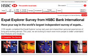 Expat survey HSBC