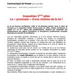 Imposition du 2ème pilier pour les frontaliers : vers une révision de la loi