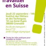 Conférence «Travailler en Suisse» à Grenoble le 22 septembre 2011