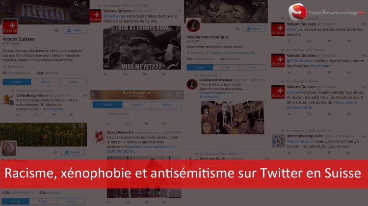 racisme  x u00e9nophobie et antis u00e9mitisme sur twitter en suisse