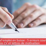 erreurs de français dans lettre de motivation