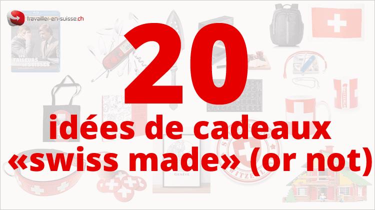 """20 idées de cadeaux de Noël """"suisses"""""""